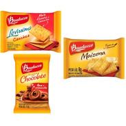 Kit Biscoito Sache Bauducco Choco+maize+cream Cracker 160un