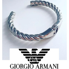 1b766f1e665 Pulseira Titanium Aço Emp Armani - Pulseiras e Braceletes no Mercado ...