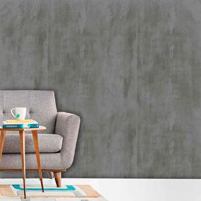 a6cbb4b3b Papel D Parede Adesivo Lavável Cimento Queimado Cinza Escuro