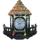 Reloj Pared Mesa Artesanal Madera Estilo Rustico +¡ Gratis !