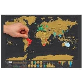 Mapamundi Planisferio Raspar Scratch Deluxe Microcentro