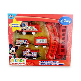 Disney Trem Ferrorama Trenzinho Locomotiva Mickey 12 Peças