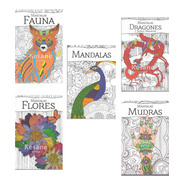 Paquete Mandalas Libro Relajacion Colorear Iluminar Terapia