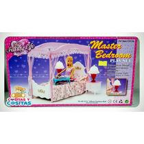 Mueble Para Casa De Muñeca Barbie Recamara Elegante
