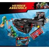 Iron Man Capitão América Avengers 386 Peças Lego Compatível