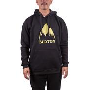 Buzo Canguro Burton Logo Mtn Blacked
