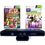 Kinect Sensor Xbox 360 + 2 Jogos Originais Pronta Entreg