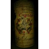 Antigua Botella Con Brandy Carlos I De Pedro Domeq 35 Años