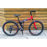 Bicicleta Plegable Rodada 26 Nueva Aluminio Monk 24 Vel