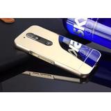 Capinha Celular Tampa Espelhada Moto G4 Metal Luxo