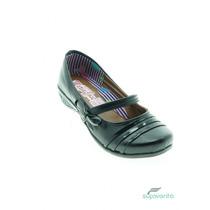 Zapato Escolar Sintetico Negro Marca Maria Jose