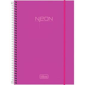 Caderno Neon Tilibra 10 Matérias 200 Fls (roxo)