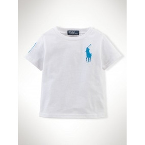 Polo Ralph Lauren Bebe Camiseta Big Pony Branca!! 18 Meses!