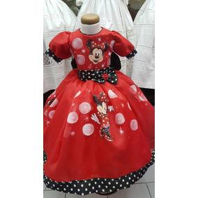 Vestido Mimi Minnie Mouse Disney Pintado A Mano Nupcialesdli