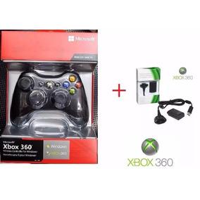 Kit Controle Xbox 360 Original Sem Fio + Bateria Carregador