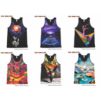 Camiseta Regata Psicodélica - Psicodélic - Vários Modelos #6