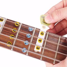 Guitarra Adesivos Notas Braço Violão Baixo Música Decorar