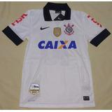 Camisa Corinthians Nike 2013 Patchs Libertadores E Mundial