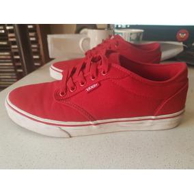 zapatillas vans hombre rojas