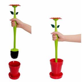 Escova Sanitaria Para Banheiro Forma Planta Com Vaso