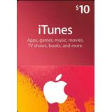 Itunes Giftcard $10.00 Dólares Eua Apple Ipod/iphone/ipad