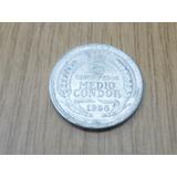 Moneda Chilena De 5 Pesos Medio Condor Año 1956
