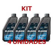 Kit 4 Óleo Do Motor Elaion Flexlub 100% Sintético 5w-40 Sn