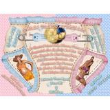 Tarjeta De Invitacion Digital De Pañal Baby Shower