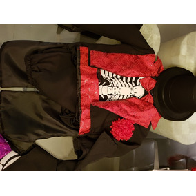 Disfraz De Catrin Con Sombrero Niños Alta Costura Envio Grat 378bdba6b11