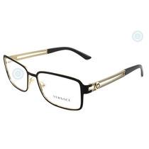 Lentes Versace Ve1236 Black Gold Original Dama Nuevo