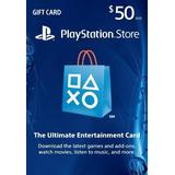 Playstation Network Card 50 Usd Cuenta Mexicana Para Ps4 Ps3