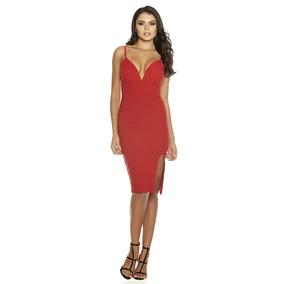 Vestido Rojo Sexy Tirantes Escote Strech Antro Fiesta