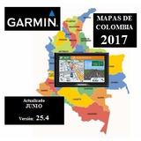 Mapa Garmin Colombia 2017 Ultima Actualizacion Junio - 25,4