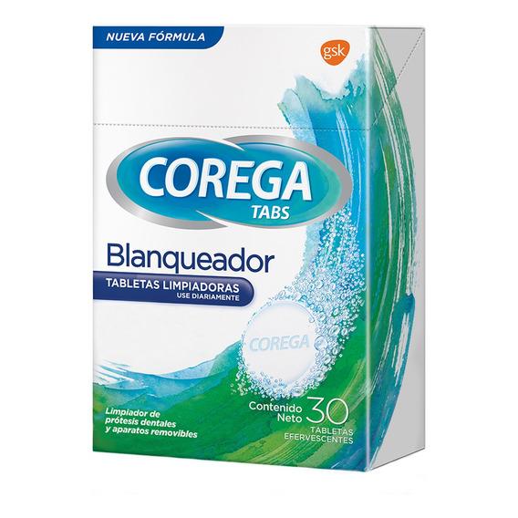 Limpiador Prótesis Dentales Corega Tabs Blanqueador 30u