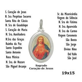 8a94bba5bb6 Relógio Personalizado Jesus Cristo Na Cruz 5276. São Paulo · Pingente  Sagrado Coração De Jesus Com Adesivo