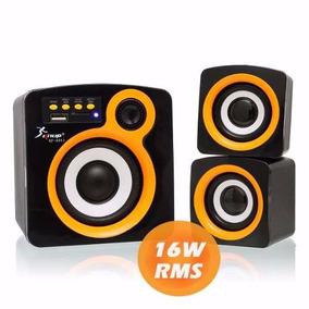 Caixa De Som 2.1 Knup Kp-6011 Bluetooth Pc Notebook Tv