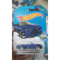 Hot Wheels Coleccion 2017 Ford Mustang Convertible Gt Azul