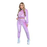 Conjunto Veludo Lilas Letreiro Planet Girls Barbie