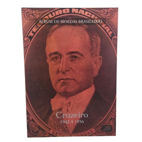 Álbum Moedas Brasileiras Cruzeiro 1942 A 1956