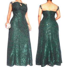 Vestido Longo Verde De Festa Casamento Madrinha Em Renda