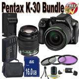 Cámara Digital Pentax K-30 Con Mm Wr Y Kit De Lente Al Mm