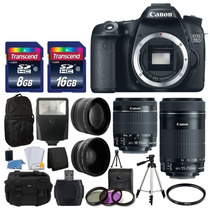 Canon Eos 70d 18-55 Y 55-250 Kit