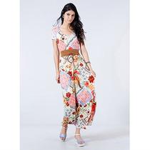 Vestido Longo Étnico Feminino Malwee - Color