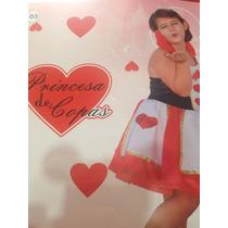 Fantasia Infantil Princesa Dama De Copas