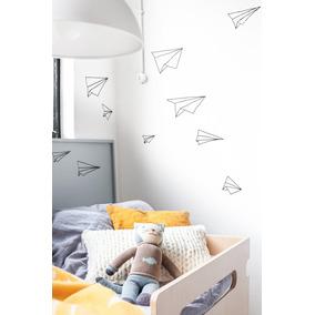 increble vinilo decorativo aviones de papel infantil