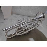 Trompete Em Sol Prata Dinasty Usa Original Raridade