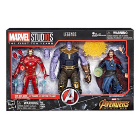 Figuras Iron Man Mark L & Thanos & Doctor Strange Marvel 10t