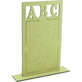 50 Porta Retrato Formatura Abc Mdf Cru Lembrancinha