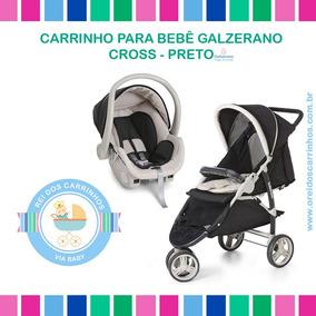 Galzerano Cross - Carrinho P/ Bebê C/ Bebê Conforto (preto)