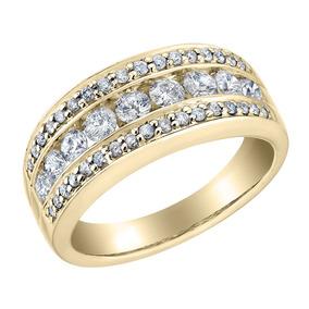 Diamante Anel De Cocktail 1.0 Quilates (ctw) Em 14k Ouro Ama
